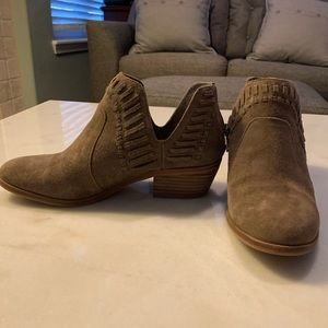 Taupe Booties Vince Camuto